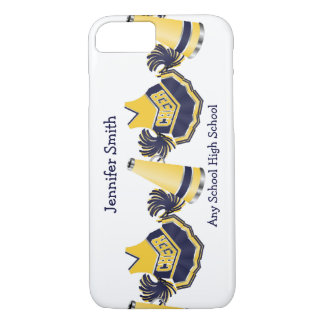 Blue and Yellow Cheerleading iPhone 7 case