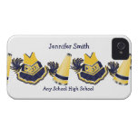 Blue and Yellow Cheerleading iPhone Case Case-Mate iPhone 4 Case