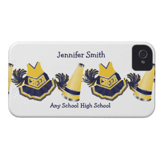Blue and Yellow Cheerleading iPhone Case