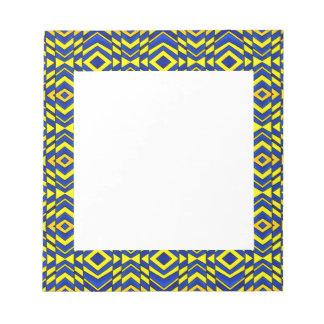 Blue and Yellow Chevron Pattern Note Pad