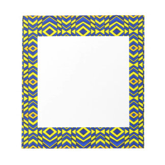 Blue and Yellow Chevron Pattern Memo Notepads