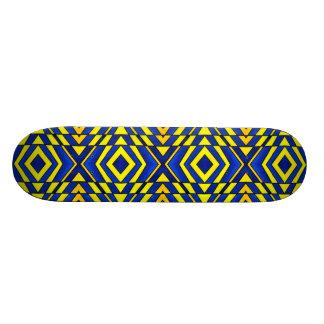 Blue and Yellow Chevron Pattern Skate Board Decks