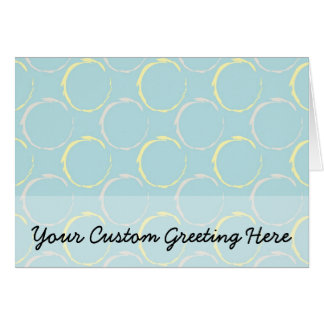 Blue and Yellow Coffee Stains, Circles Pattern Card
