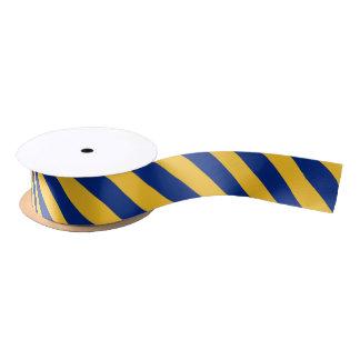Blue and yellow colour ribbon satin ribbon
