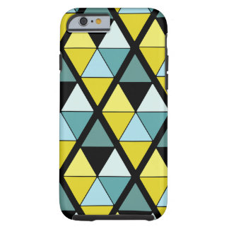 Blue and Yellow Contrast Triangle Tough iPhone 6 Case