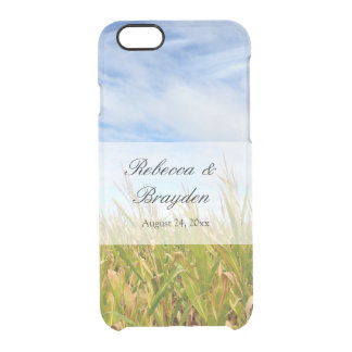 Blue and Yellow Cornfield Farm Country Wedding Clear iPhone 6/6S Case