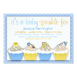 "Blue and Yellow Cupcakes Baby Sprinkle Invitations 5"" X 7"" Invitation Card"