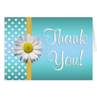 Blue and Yellow daisy Thank you card
