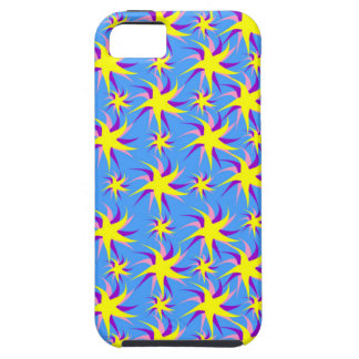 Blue and Yellow Dancing Stars iPhone SE/5/5s Case