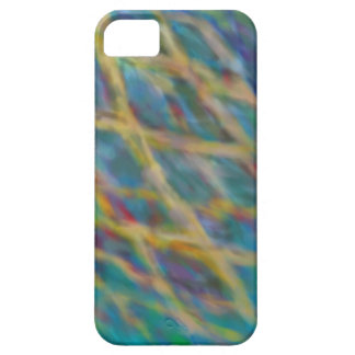 Blue and Yellow Fire Abstract iPhone/iPad case