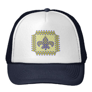 Blue and Yellow Fleur de lis Trucker Hat