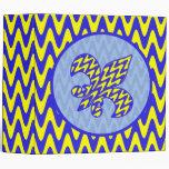 Blue and Yellow Fleur de lis Vinyl Binders