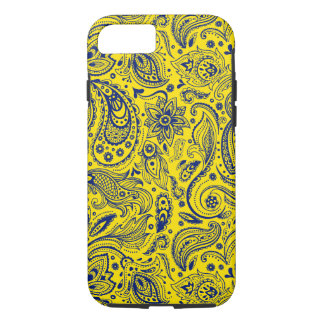 Blue And Yellow Floral Paisley Pattern iPhone 8/7 Case