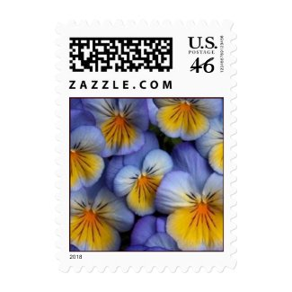 Blue and Yellow Flowers postage stamp - Pansy stamp