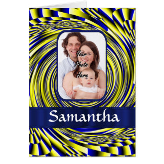 Blue and yellow fractal card