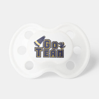 Blue and Yellow Go Team Pacifier