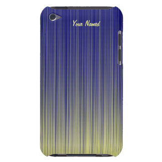 Blue and Yellow Gradient Bars iPod Case