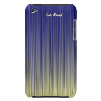Blue and Yellow Gradient Bars iPod Case iPod Touch Cover