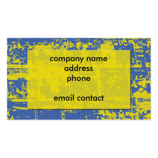 blue and yellow grunge abstract business card