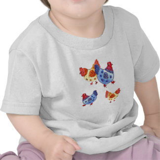 blue and yellow hens several t-shirt