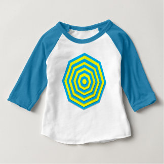 Blue and Yellow Hexagon Baby T-Shirt