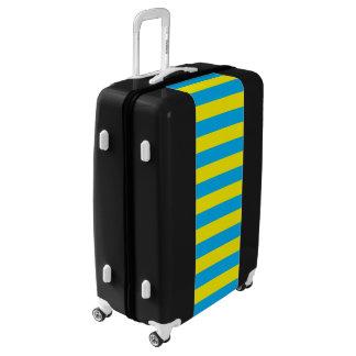 Blue and Yellow Horizontal Stripes Luggage