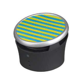 Blue and Yellow Horizontal Stripes Speaker