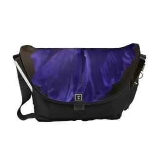 Blue and Yellow Iris - Medium Bag Messenger Bag