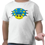 Blue and Yellow Ladybug Kids T-Shirt