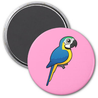Blue-and-yellow Macaw 3 Inch Round Magnet