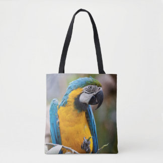 Blue and Yellow Macaw All Over Print Bag
