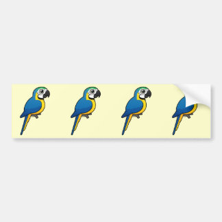 Blue-and-yellow Macaw Bumper Sticker