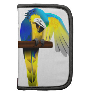 Blue and Yellow Macaw Folio Planner