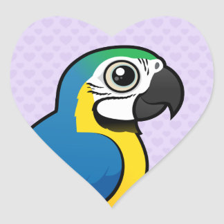 Blue-and-yellow Macaw Heart Sticker