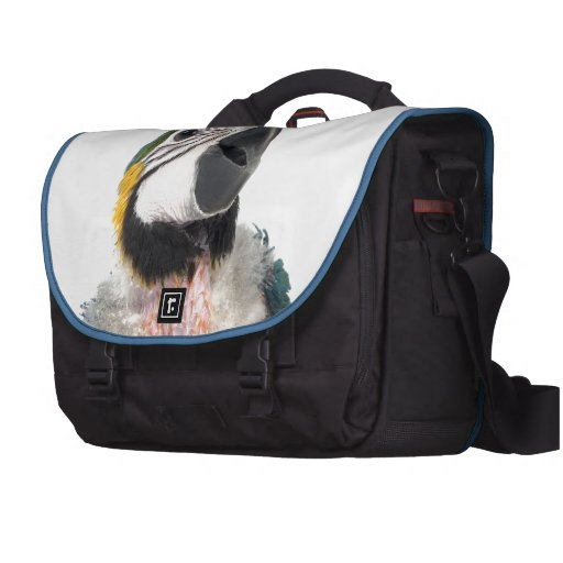 Blue and yellow Macaw Laptop Bags