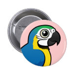 Blue-and-yellow Macaw Pin