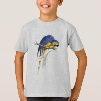 Blue and Yellow Maccaw by Edward Lear T-Shirt