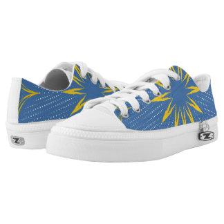 Blue and yellow mandala Low-Top sneakers