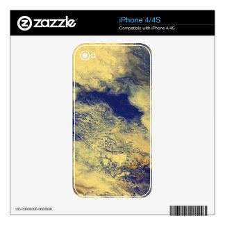Blue and Yellow Marble iPhone 4 Decal
