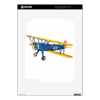 Blue and Yellow Military Flight Trainer Decal For The iPad 2