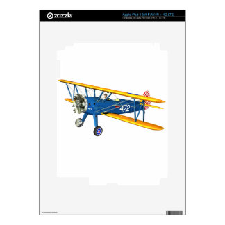 Blue and Yellow Military Flight Trainer iPad 3 Decal
