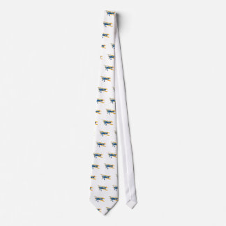 Blue and Yellow Military Flight Trainer Neck Tie