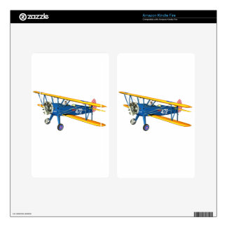 Blue and Yellow Military Flight Trainer Skin For Kindle Fire