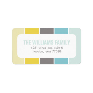 Blue and Yellow Modern Color Blocks Label