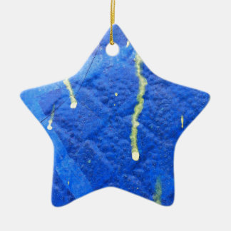 Blue and yellow modern style design. ceramic ornament