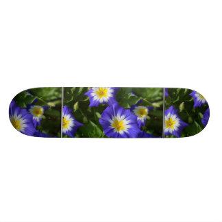 Blue and Yellow Morning Glories Custom Skateboard