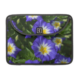 Blue and Yellow Morning Glories Sleeves For MacBook Pro