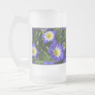 Blue and Yellow Morning Glories Beer Mug