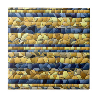 Blue And Yellow  Mosaic - Mix And Match Tile