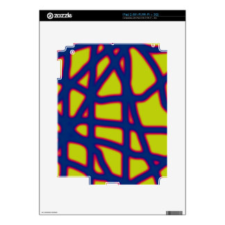 Blue and yellow neon iPad 2 decals